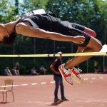 Athlet beim Hochsprung